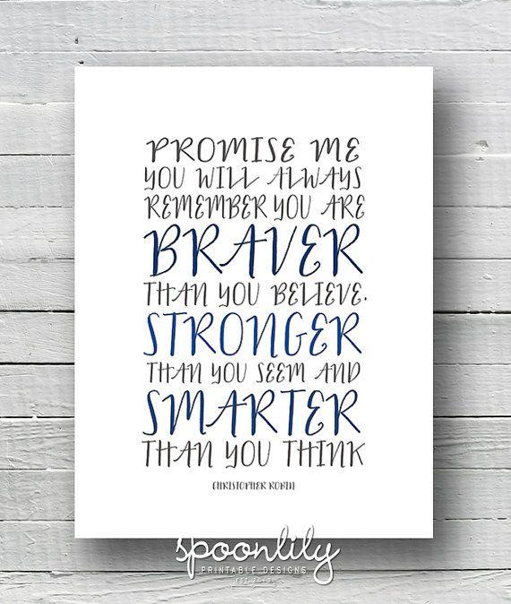 Christopher Robin Quote - Nursery decor - Baby Nursery Art - Nursery Wall Quote - Typographic Printable