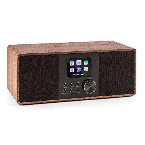 auna Connect 120 Radio Internet WiFi DAB/DAB+ FM/ RDS et Bluetooth avec lecteur USB MP3 (écran couleur, 2 réveils, égaliseur, 2x5W RMS) –…