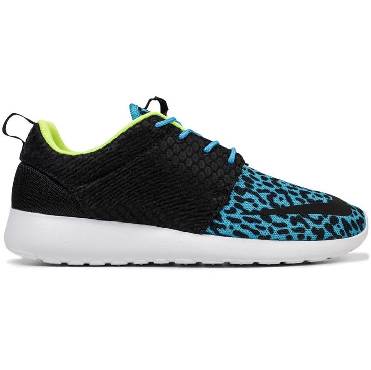 Nike Roshe Shoes, Blue Lace, Electric Blue, Leopards, Sole