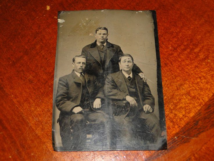 OLD VINTAGE TINTYPE PHOTO mens Antique Photo 3.2x4.5 inc | eBay