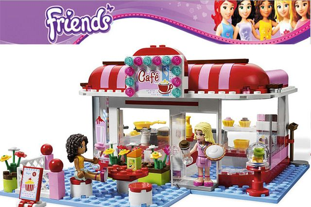 New Bela 10162 Girls Friends Andrea/Marie's Cafe Building Block Sets Minifigures Assemble Bricks Compatible with Lego toys