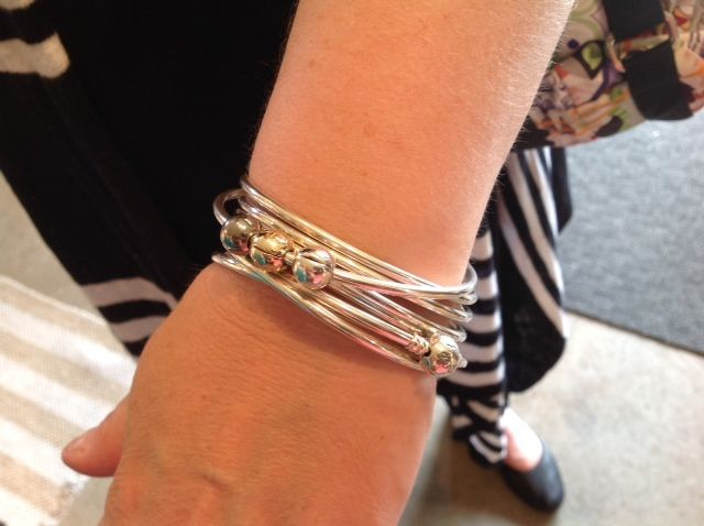 Pandora Bangles...layers and layers of silver yummyness