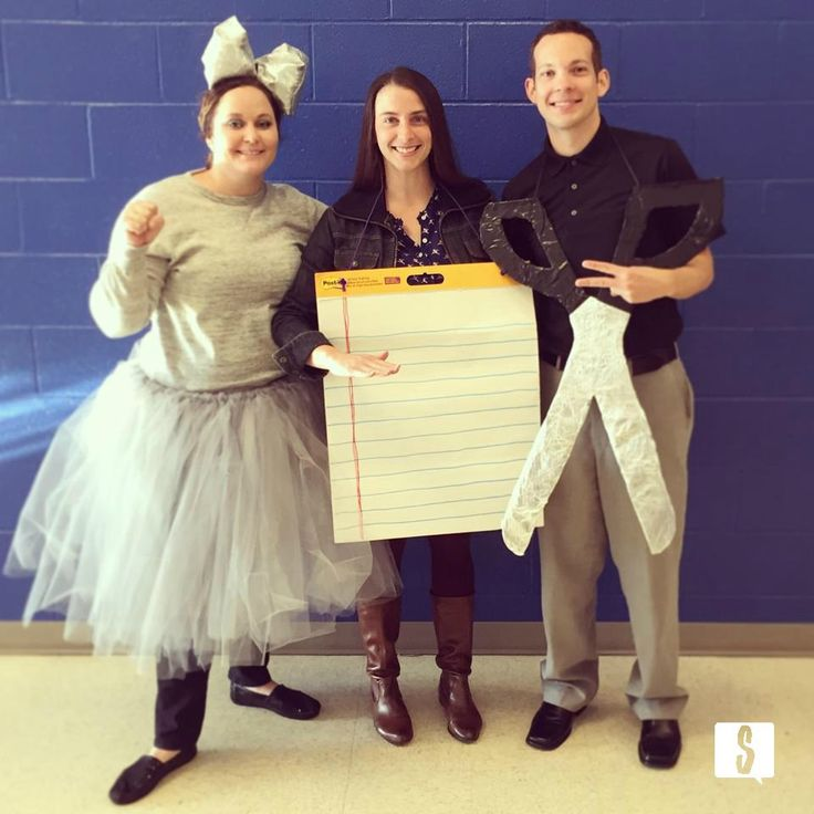 rock paper scissors group halloween costume for three. DIY halloween costume!