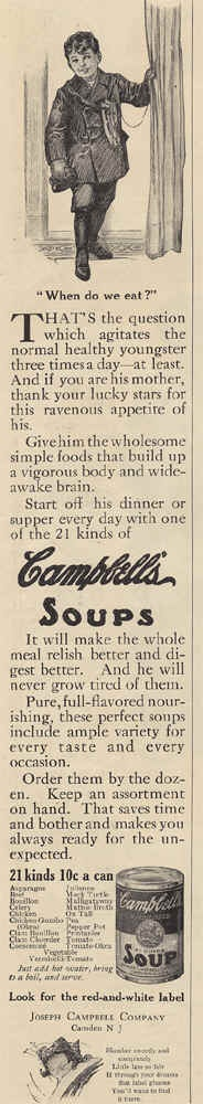 1912Mmm Mmm Good, Soup Advertising, Campbell Soup, Campbell'S Soup