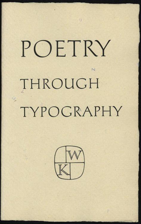 Poetry through Typography, 1993