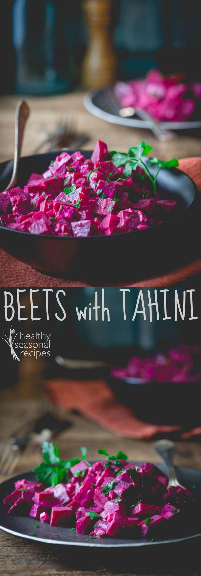 beets with tahini - Healthy Seasonal Recipes