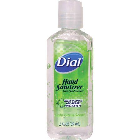 Dial Llr69947 Fliptop Hand Sanitizer 24 Carton Clear Brown