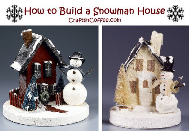 These are so cute -- you could make several little houses for a Christmas village.