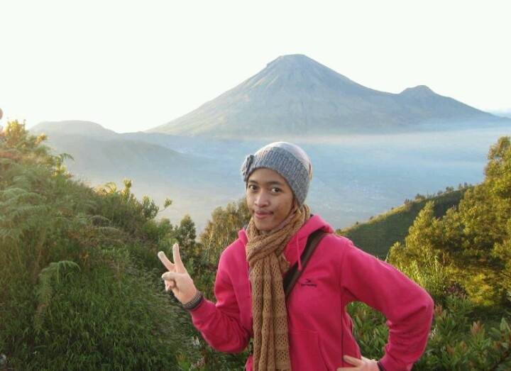 """Here, i'm at Dieng Plateu #Inidonesia. they are saying """"negeri di atas awan"""" .You can feel to see cloud beside you :-)"""