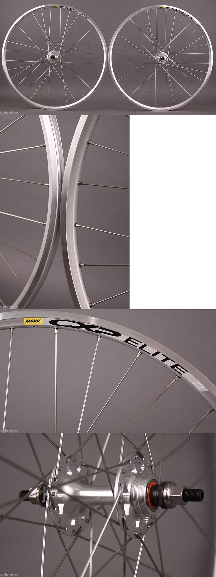 Wheels and Wheelsets 177830: Mavic Cxp Elite Track Fixed Gear Single Speed Wheelset Silver 32H Formula Hub BUY IT NOW ONLY: $159.0