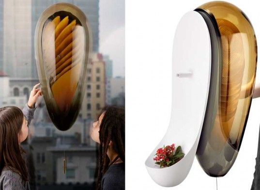 Philips' just unveiled a new concept for an urban beehive that would allow anyone to become an amateur bee keeper – even those who live in apartments with no backyards. The pod-like hive attaches to a hole cut into a pane of glass. Once affixed, the glass covered pod on the inside of the window would allow you to peer into the hive while the white entryway on the outside would allow the bees the freedom come and go.