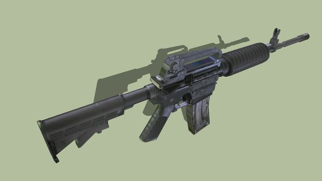 Large preview of 3D Model of Colt M4