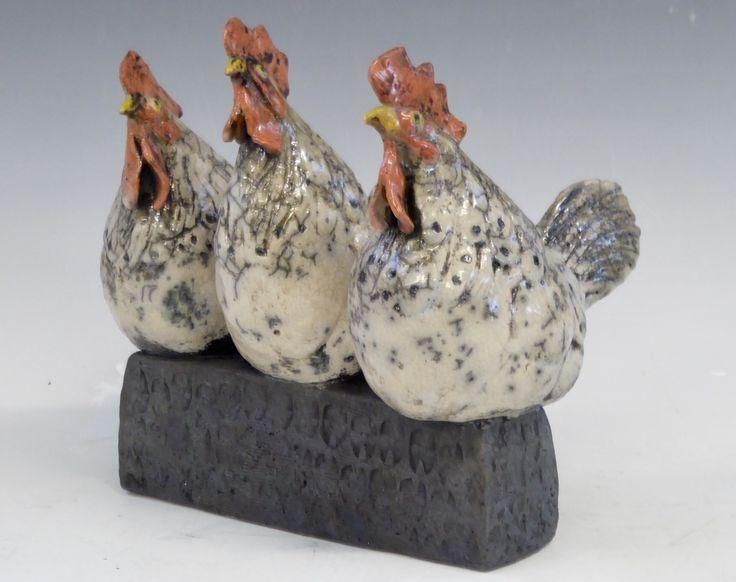 Hähnchen. Cockadoodledo. Raku 2017 – Keramik – #Cockadoodledo # Hühner #Ceramic …   – Keramische Kunst