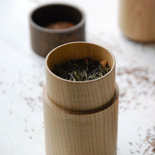 Tutu wood container - Soji Collection - Medium Brown - MONOSQUARE
