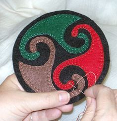 Viking Embroidery Part 2 - tips and ideas for felt appliqués!