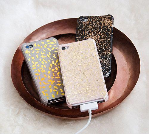DIY sparkly iPhone cases