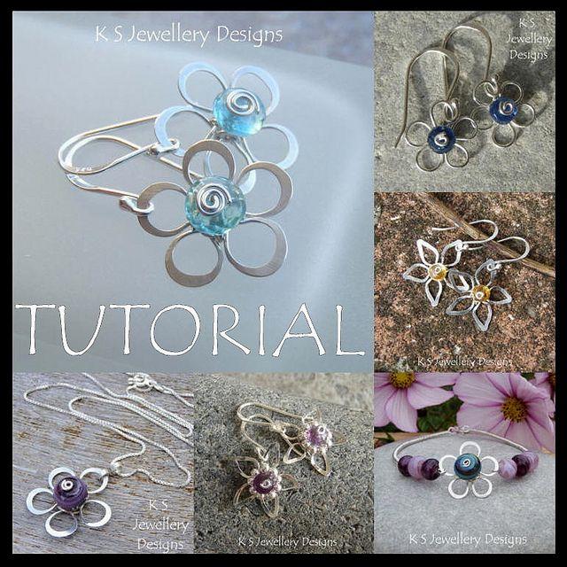 Wire Flowers - Wire Jewelry Tutorial by KSJewelleryDesigns, via Flickr