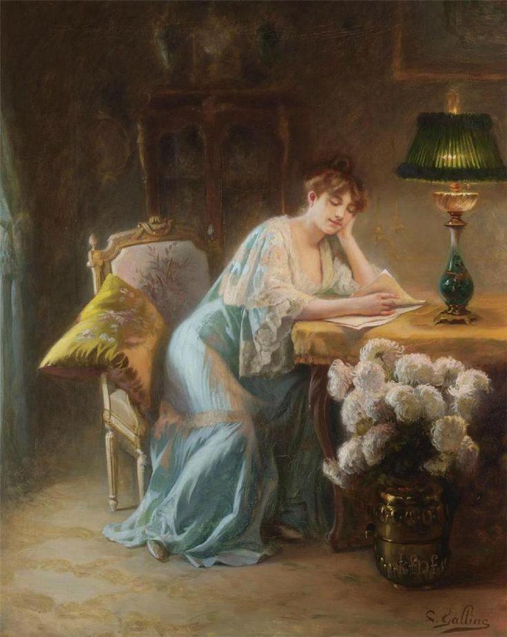 23silence:  Louis Galliac (1849-1934) - La lecture du soir