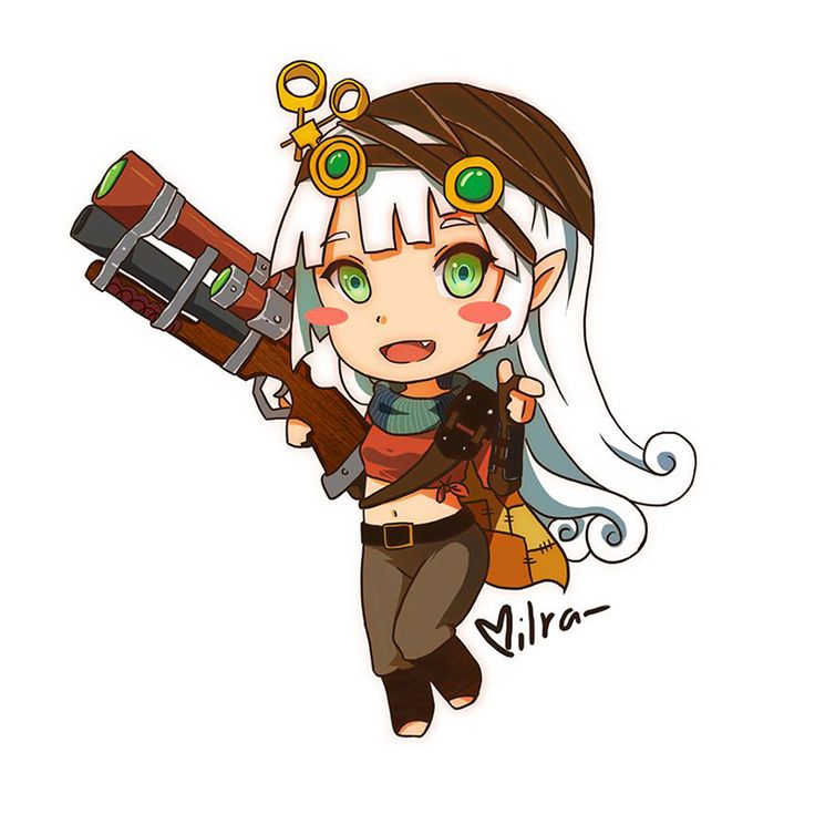 Dota 2 -  Sniper (female anime style)