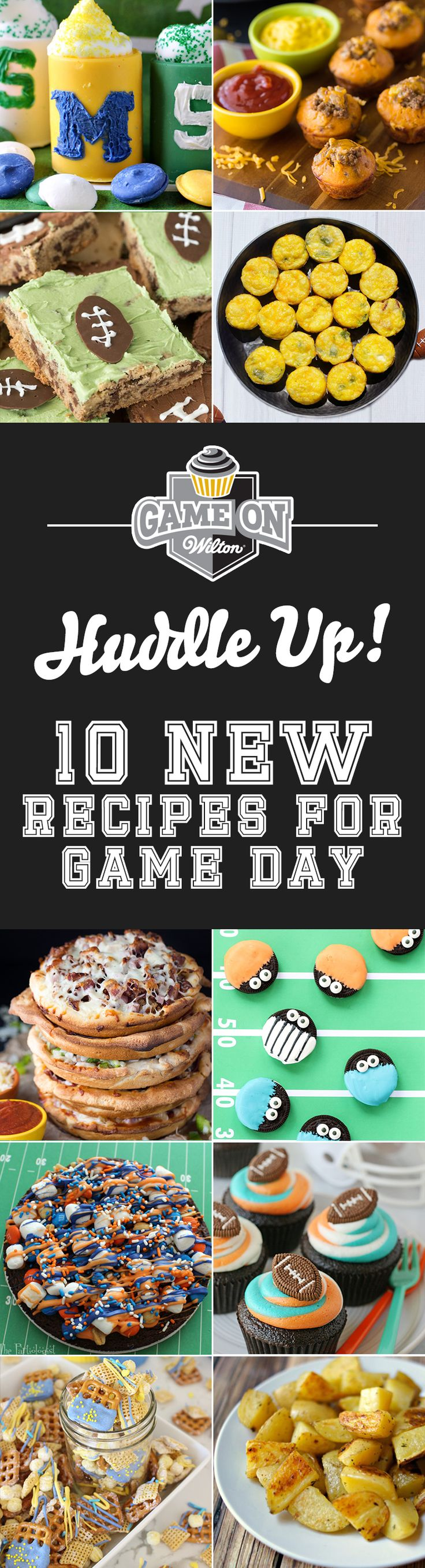 10 New Recipes for Game Day: We've teamed up with some incredible bloggers to come up with fun and tasty game day snacks. Check out these recipes that are perfect for any sports event, tailgate and football party.