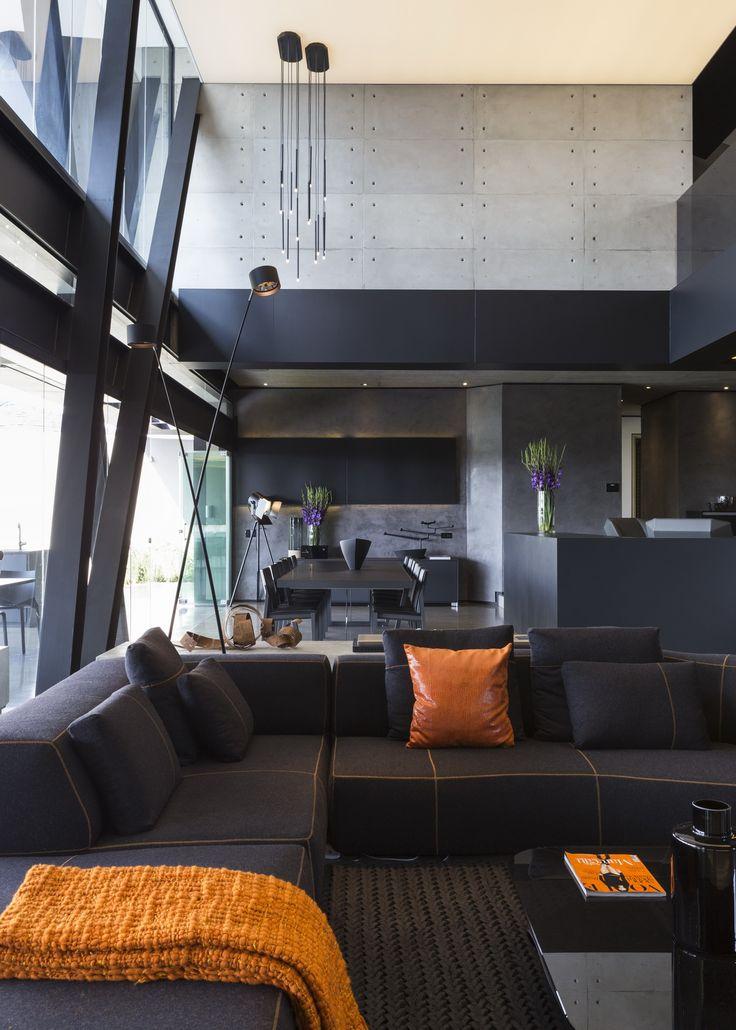 Kloof Road House | Texture | M Square Lifestyle Design | M Square Lifestyle Necessities #Design #Orange #Living #Interior #Furniture #Decor