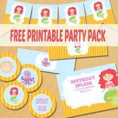 The Little Mermaid Party Printables - Free Printablesfor All Occassions
