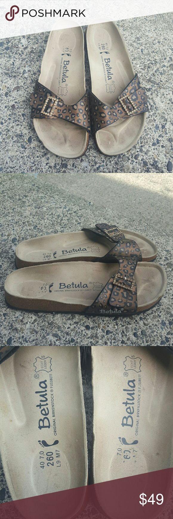 Birkenstock betula sandals Women's size 40 US size ladies 9 in excellent condition,  lightly used , leopard print Birkenstock Shoes Sandals