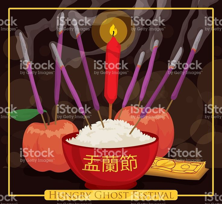 Offerings to the Spirits in Night of Hungry Ghosts Festival