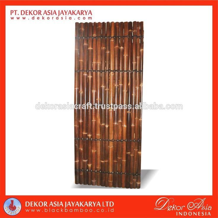 Bamboo Fence About PT Dekor Asia Jayakarya Dekorasia.com is a design and export-company and serves as an internet medium for the business-to-business community and inquiries related to high volume black bamboo product and other garden accessories, Pandanus Grass and also Other Nature Fibers and general craft products - handicrafts made in our industry in Java from natural and sustainable resources found in abundance in Indonesia. We supply small, medium and Large Company Such as IKEA