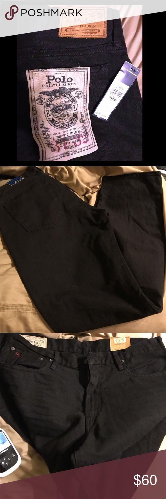 BNWT Men's Ralph Lauren Jeans Black BNWT Polo by Ralph Lauren Thompson relaxed fit 34x32 Polo by Ralph Lauren Jeans