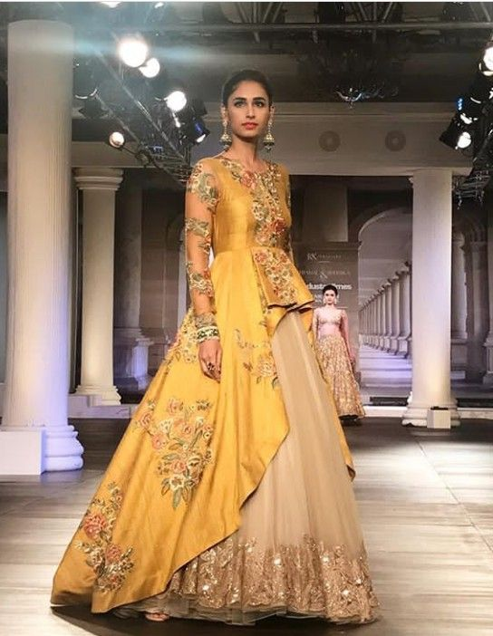 47481bc4a8 Beautiful Net and Silk Hand Embroidered Dress with different silhouettes  and modern cuts.