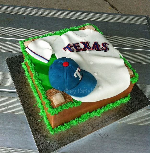 Texas Rangers Birthday Cake Ideas | Texas Rangers Baseball Birthday Cake | Flickr - Photo Sharing!