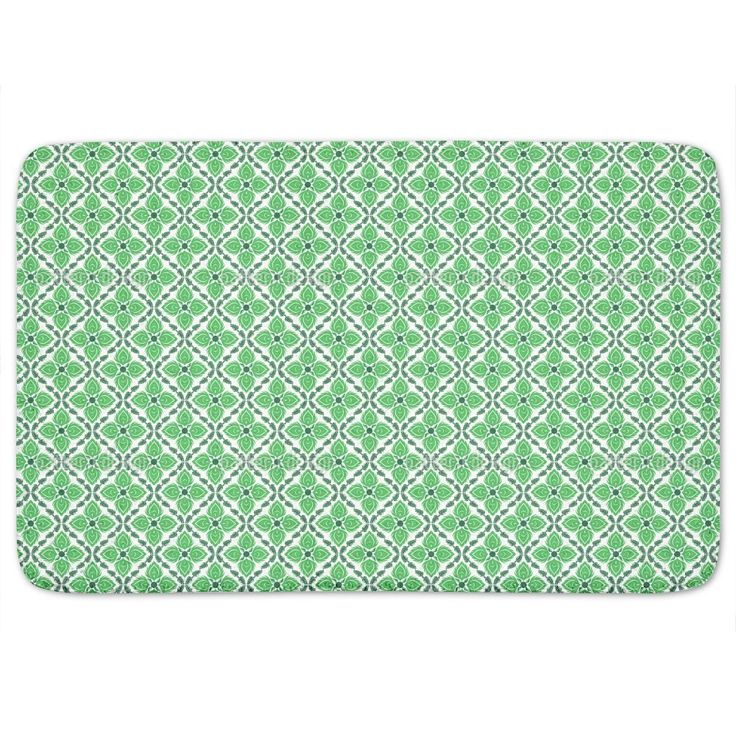 Captivating Green Bath Mat By Uneekee