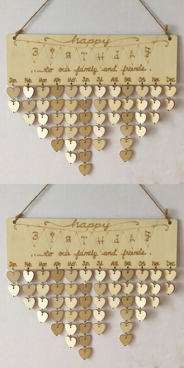 Family And Friends Birthday Calendar DIY Wooden Reminder Board