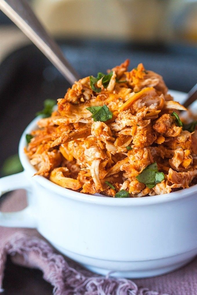 Pulled Tandoori Chicken- a delicious, flavourful pulled chicken recipe with tandoori spices and made over the stovetop! Paleo, gluten free and whole 30!