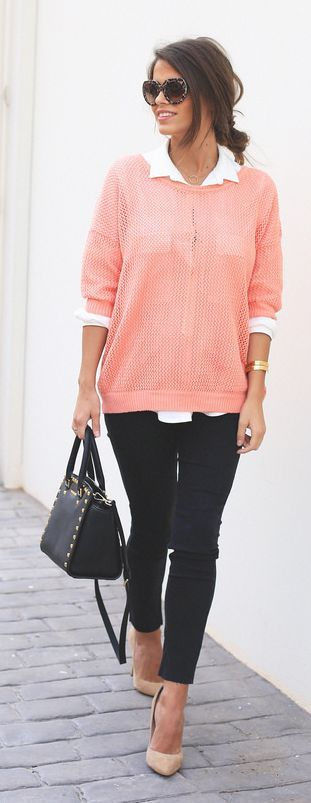 I like the fit of this sweater...not the see-through-ness.. I like my sweaters to be warm! But I like that it's not clingy..