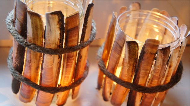 Een glazen potje, Schelpen en een touwtje en klaar is je interieur.