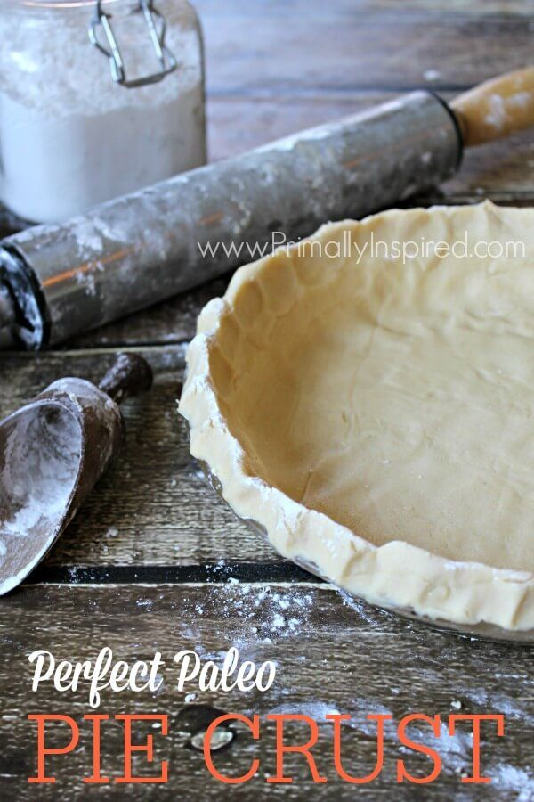 Paleo Pie Crust from Primally Inspired (Grain Free & Nut Free)  Going to try this with tapioca flour instead of arrowroot!