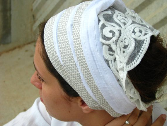 BOHO katoen wit Zandana | Hoofd sjaal | Haar wrap | Tichel | Haarband | womens haar sjaals | Boheemse hoofddoek
