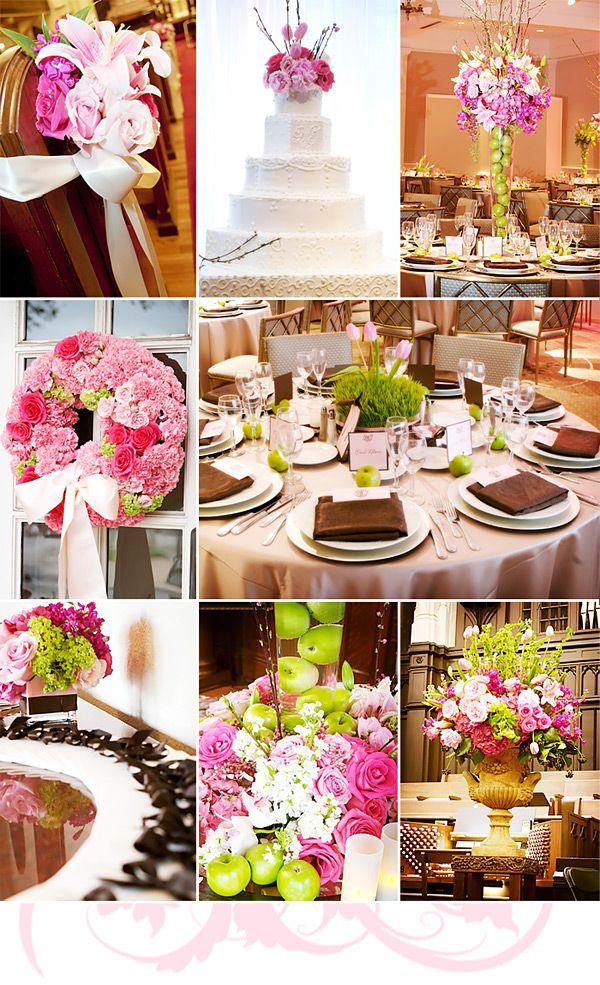 A Pink Green Wedding