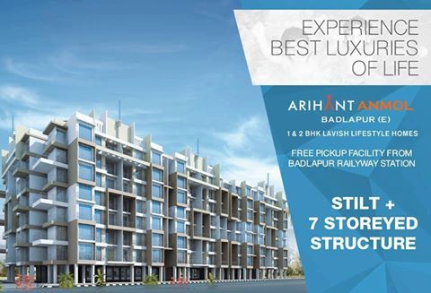 Arihant Anmol - Badlapur East 1 & 2 BHK Lavish Lifestyle Homes Stilt + 7 Storeyed Structure http://www.asl.net.in/arihant-anmol.html #ArihantAnmol #RealEstate #Property #Badlapur #Mumbai