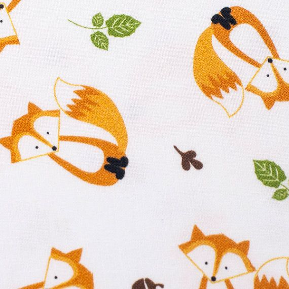 Beautifull polish fabric with small foxes. This fabric has certificate Oeko-Tex. It mean fabric is safe for childern. * 100% Cotton Woven * Color: White, Orange, Green * Weight: 153g/m * Size: 1 Yard = 150 cm wide x 92 cm long (60 x 36) * Multiple yards will be cut in one piece. * Great for bedding, curtain, roman shade, cushion, scarf bib, blouse, apron, table cloth, accessories and more * Check out other beautiful fabric: - Our fabric ships from Poland. - All package have tracking servi...
