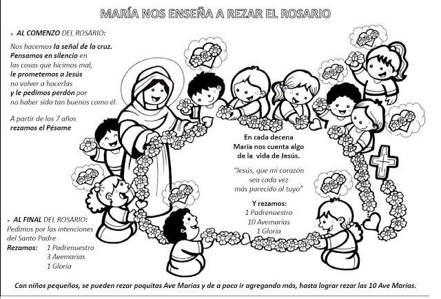 Catequesis Primera Unia N El Credo Para Colorear Espagnol: 91 Best Rosary Images On Pinterest