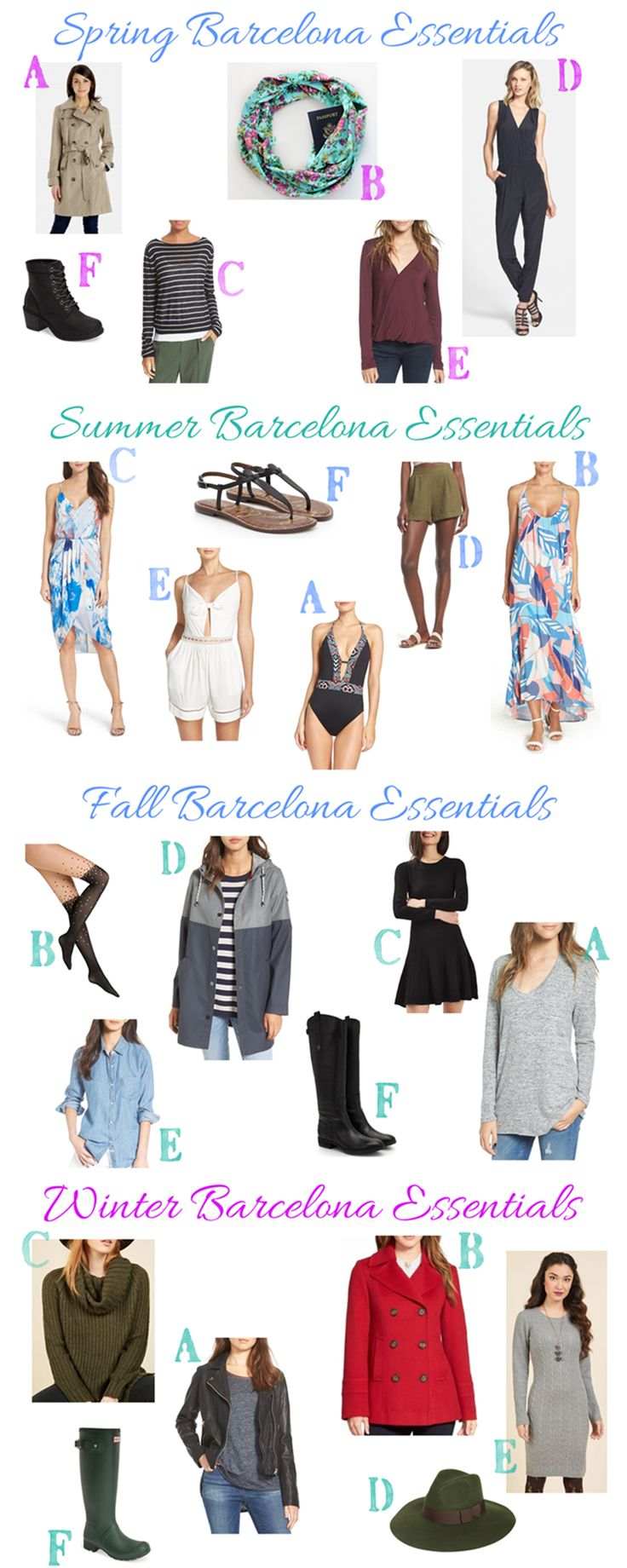 Heading to Barcelona?  These are the women's packing essentials you need no matter the season!