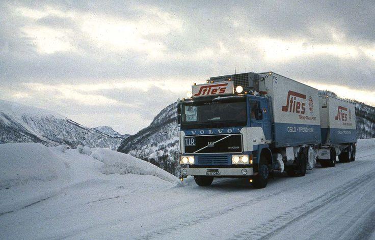 Op weg naar de Noordkaap, winter 1985.