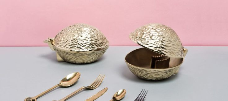 The incredible solid brass Noix nut-cracker by Seletti is available now, in our Hyde Park Showroom.