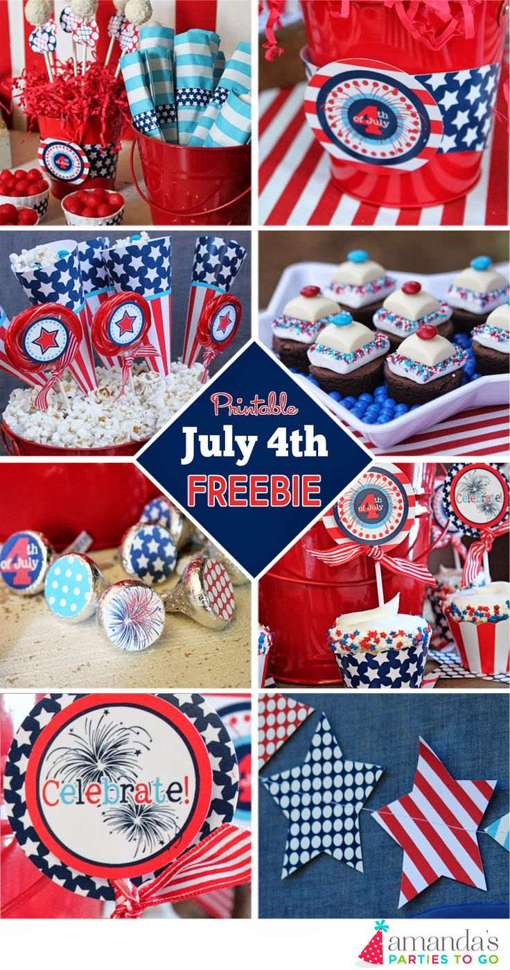 Amanda S Parties To Go July 4th 4th Of July Party Printables Free