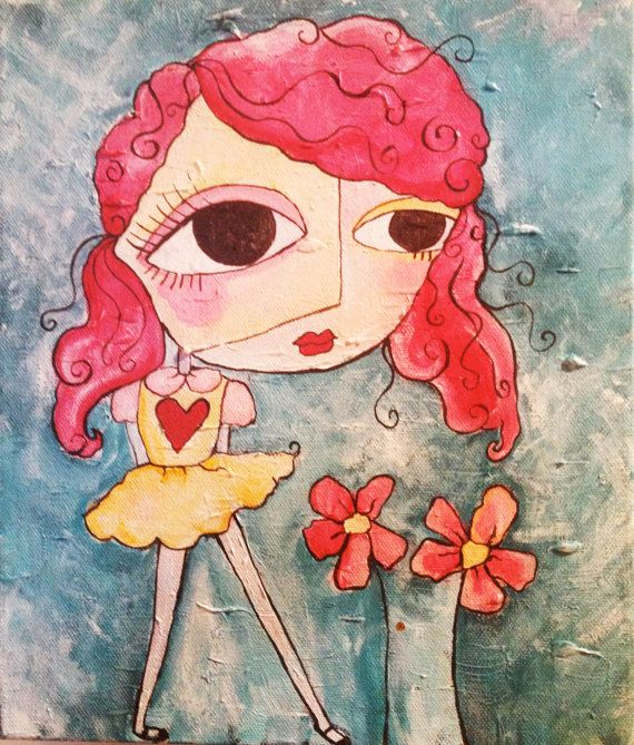 Original+Acrylic+Painting++She+Was+Ripe+As+A+by+BriellenBaker,+$60.00