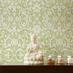 Amazing morrocan stencils you can create your own 'wallpaper' effect easily.