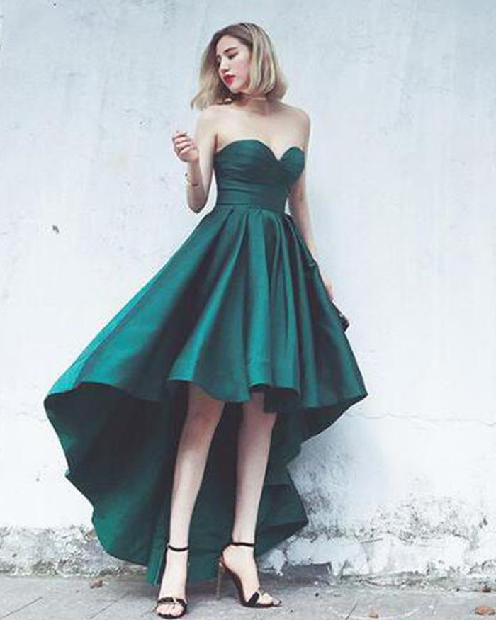 7e896dd426c06 sweetheart high low simple prom dress, hi-low satin formal dress for  special occasion